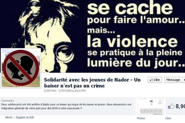 Quand les 3 adolescents de Nador sont emprisonnés pour un baiser partagé sur Facebook, c'est l'absurdité des lois qui est pointée du doigt. En résultera une grande mobilisation sur les réseaux sociaux afin de libérer les enfants.
