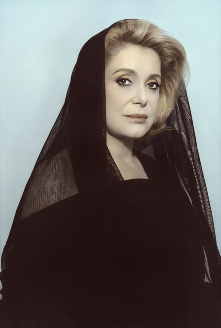 Youssef Nabil - Catherine Deneuve, Paris, 2010 Hand colored gelatin silver print Courtesy of the Artist and Nathalie Obadia Gallery, Paris/ Brussels