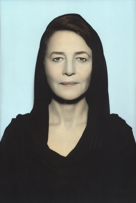 Youssef Nabil - Charlotte Rampling, Paris, 2011 Hand colored gelatin silver print Courtesy of the Artist and Nathalie Obadia Gallery, Paris/ Brussels