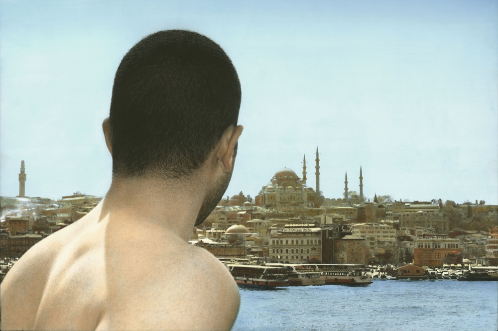 Youssef Nabil - Self-portrait, Istanbul 2009 Hand colored gelatin silver print Courtesy of the Artist and Nathalie Obadia Gallery, Paris/ Brussels