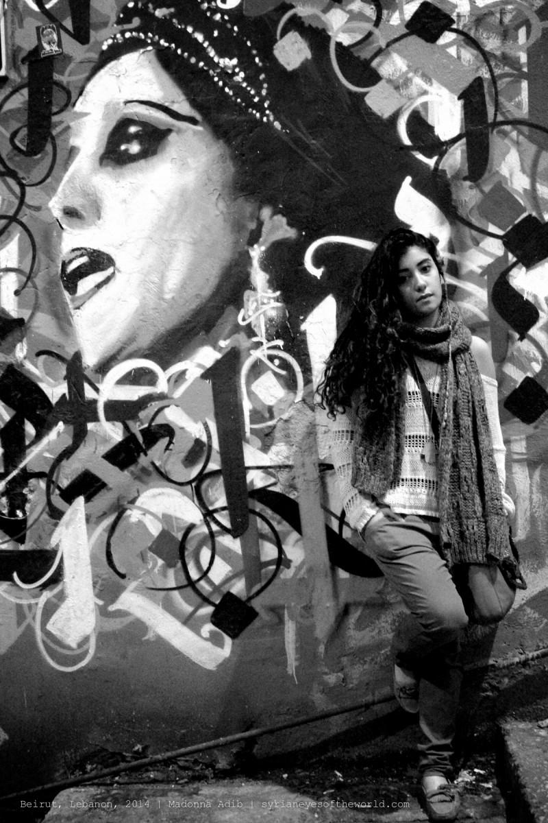 """Rita Adib : """"Fairouz dit dans l'une de ses chansons : tout arrive à une fois, même les rêves. Je dirais plutôt : tout arrive à une fin, à part les rêves"""". Crédit : Madonna Adib / Syrian eyes of the world"""