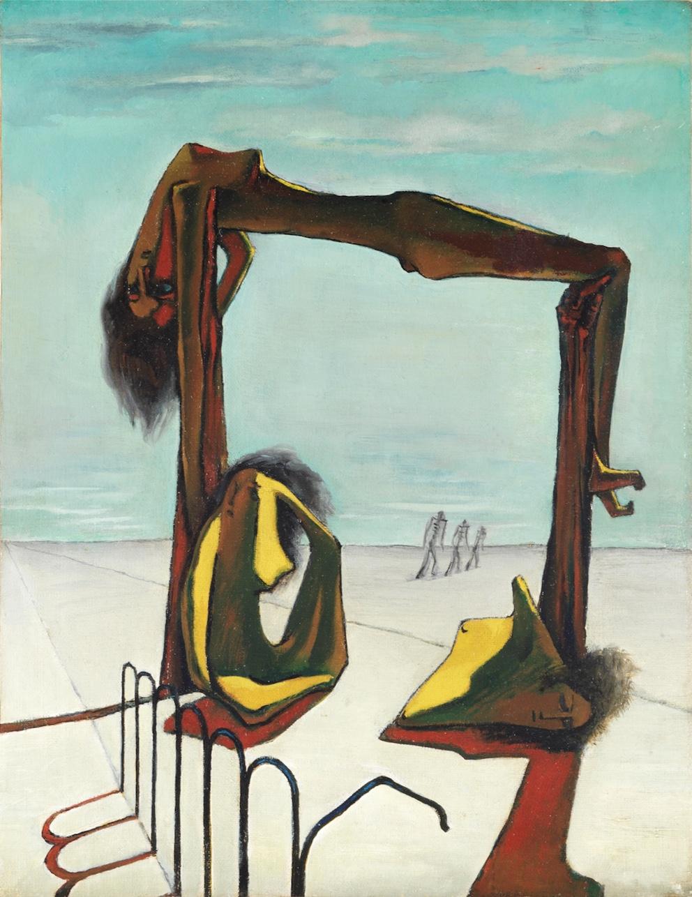 Ramsès Younane Sans titre, 1939 Huile sur toile 46,5 x 35,5 cm Collection de S. Exc. Sh. Hassan M. A. Al Thani, Doha