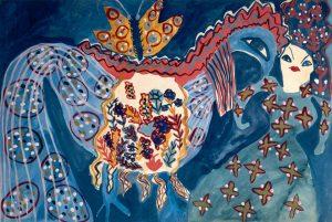 Baya (Fatima Haddad) Femme, papillon, cheval-oiseau vers 1947