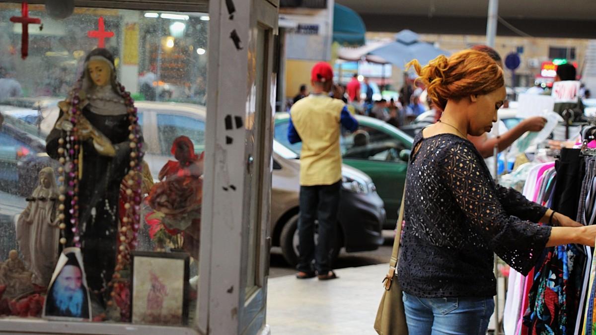 Le shopping à Dawra, activité battant son plein le dimanche