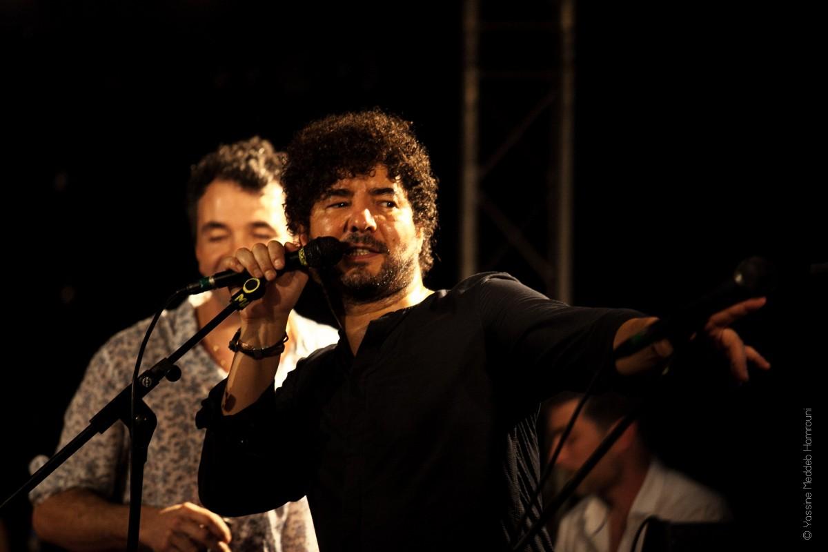 Sofiane Saidi et le groupe Mazalda en concert au New Morning à Paris le 24 novembre 2018